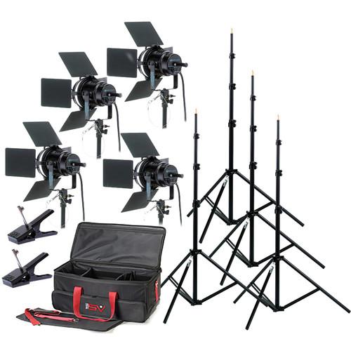 Smith-Victor K76 4-Light 4000-Watt Professional Studio Kit (120V)