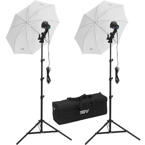Smith-Victor K22U-A 2-Light 1200W Portable Case Kit with Umbrellas (120-240VAC)