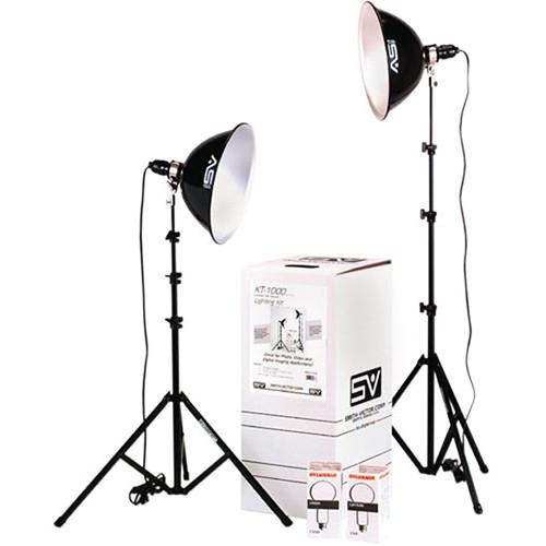 Smith-Victor KT1000U 2-Light 1000W Intermediate Thrifty Umbrella Kit