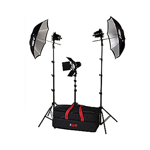 Smith-Victor K43 3-Light 1800 Watt Light Kit with Umbrellas