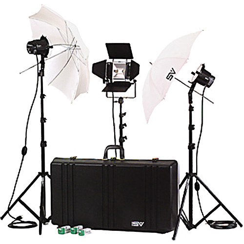 Smith-Victor K77 3-Light 2,200 Watt Professional Interview Lighting Kit (120V AC)