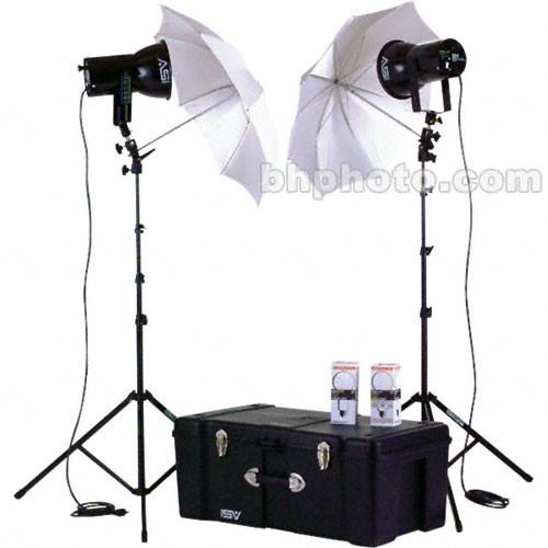 Smith-Victor K87 2-Light 500 Watt Ultra Cool Portable Kit with Umbrellas (120V AC)