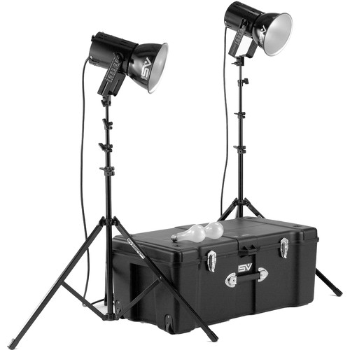 Smith-Victor K82 2-Light 500 Watt Ultra Cool Portable Kit (120V AC)