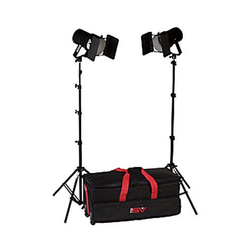 Smith-Victor K62 2-Light 1200 Watt Controlled Quartz Portable Kit (120V)