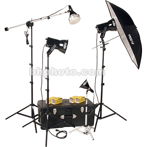 Smith-Victor K84 4-Light 1000 Watt Ultra Cool Portrait Kit (120V AC)