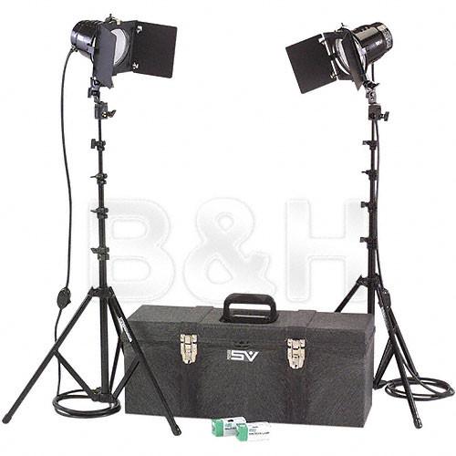 Smith-Victor K41 2-Light 1200 Watt Toolbox Kit with Barndoors (120V AC)