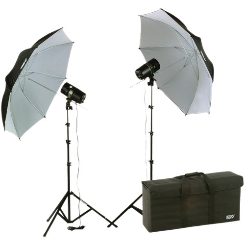 Smith-Victor FL110K 2-Light 220 Watt Basic Studio Strobe Kit (120V AC)