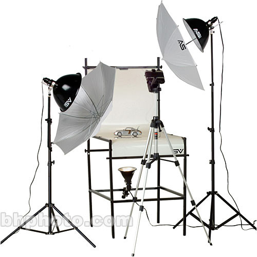 Smith-Victor TST-P2 3-Light Photoflood 1250 Watt Shooting Table Kit (120V AC)