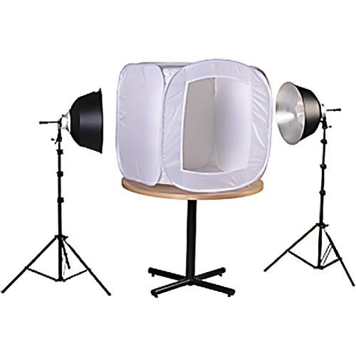 "Smith-Victor FLB-2 700 Watt 2-Fluorescent Light 28"" Tent Kit (120VAC)"