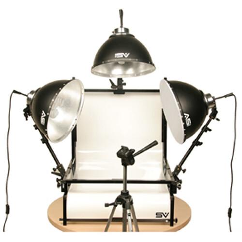 Smith-Victor TSTF3 Three Light Fluorescent Shooting Table Kit (120V AC)