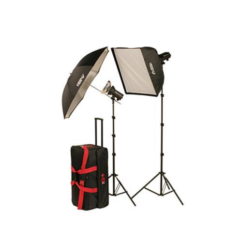 Smith-Victor FL400K Two Monolight Softbox/Umbrella Kit (120VAC)