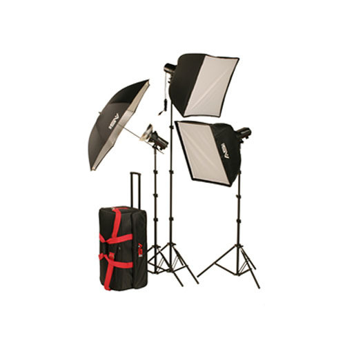 Smith-Victor FL700K 750W 3-Light Softbox Kit