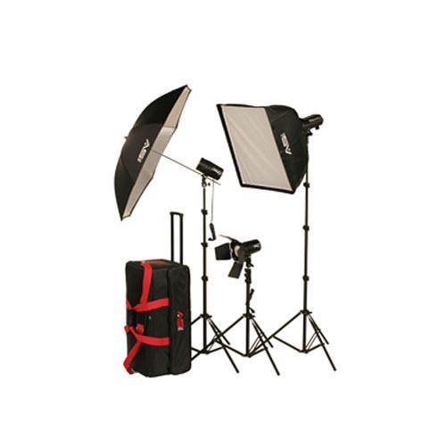 Smith-Victor FL500K 540W 3-Light Softbox Kit