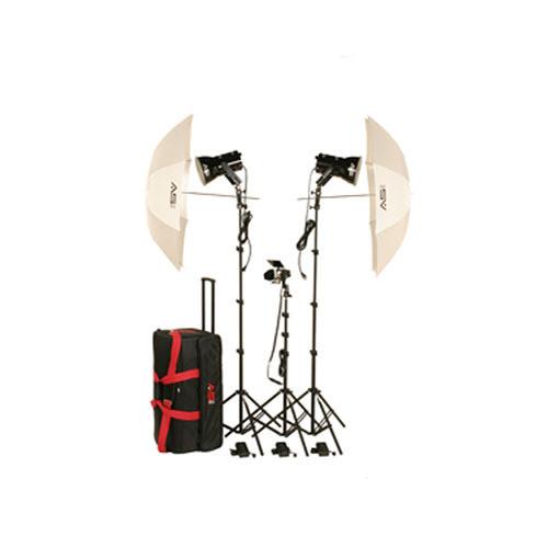 Smith-Victor K84 3-Light Ultra Quartz Location Light Kit (120V)