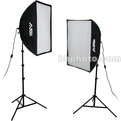 Smith-Victor KSBQ-2000 2,000 Watt Pro SoftBox Light Kit (120V)