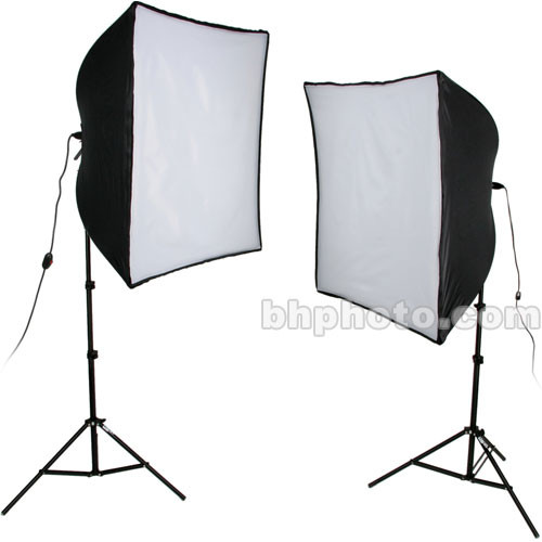 Smith-Victor KSB-1000 2-Light 1,000 Watt Economy SoftBox Light Kit (120V)