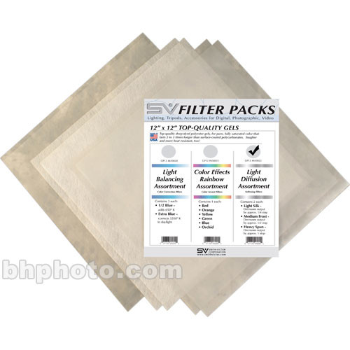 Smith-Victor D-Pack Diffusion Filter Assortment - 12 x 12""