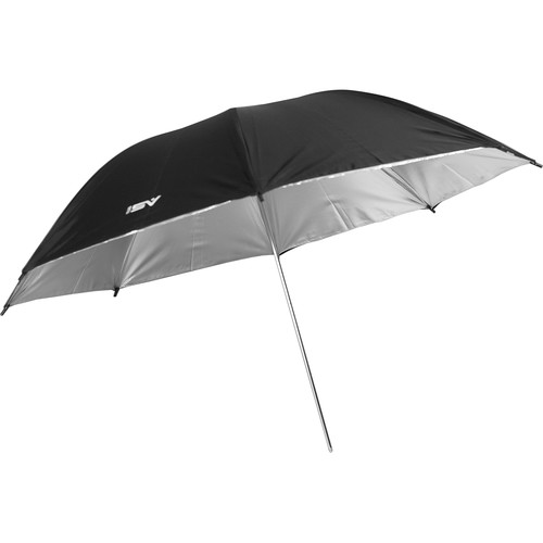 "Smith-Victor 45BS 45"" Black/Silver Umbrella"