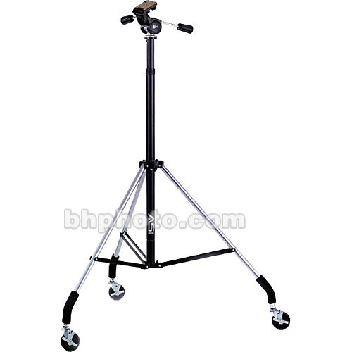 Smith-Victor Dollypod IV Wheeled Tripod w/Pro-4 3-Way Head