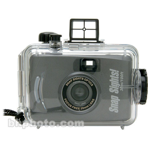 Snap Sights SS02 35mm Underwater Camera Preloaded with 27 Exposure/ISO 800 Film - Rated up to 100'