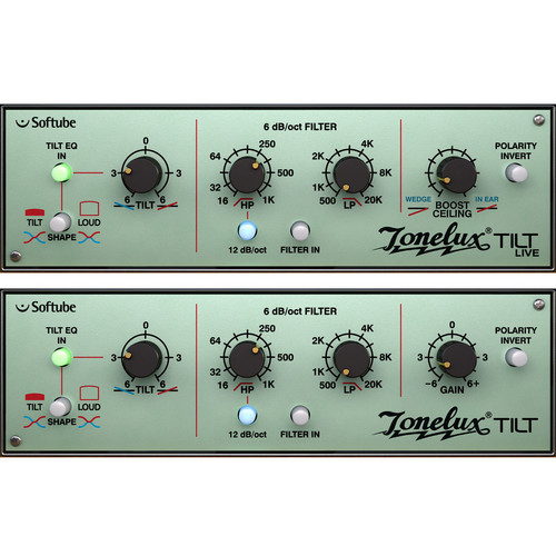Softube Tonelux Tilt - One Knob EQ with Filter Section Plug-In (Native)