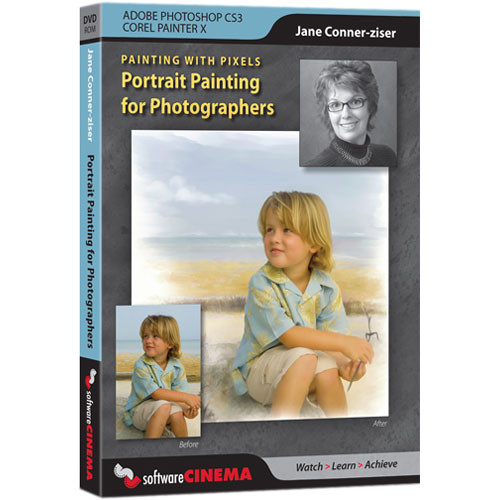 Software Cinema DVD-Rom: Training: Painting with Pixels - Portrait Painting for Photographers by Jane Conner-ziser