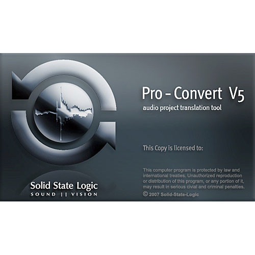 Solid State Logic Pro-Convert - Digital Audio Project Translator Software