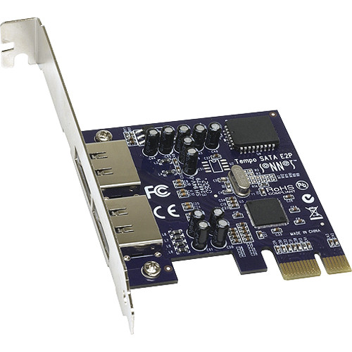 Sonnet Tempo SATA E2P 2-Port eSATA PCI Express Host Adapter - Mac/Win