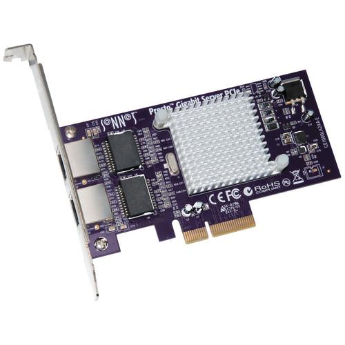 Sonnet 1000/100/10BaseT Presto Dual Port PCIe Gigabit Ethernet Adapter Card