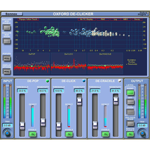 Sonnox Oxford DeClicker - Short Duration Noise Event Removal Plug-In (Native)