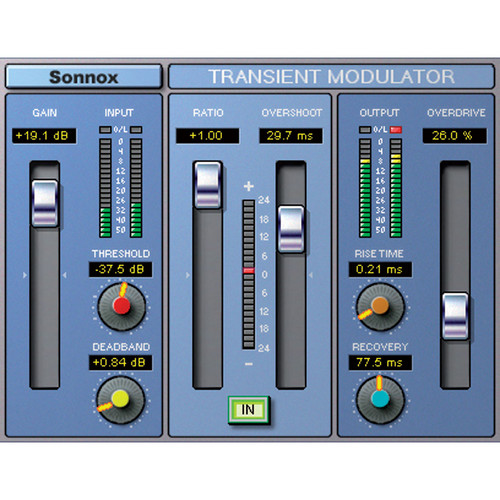 Sonnox Oxford Transient Modulator - Transient Modifier Plug-In (TDM)