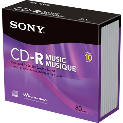 Sony CD-R Music Recordable Compact Disc (10-Pack)
