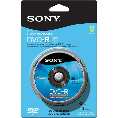 Sony 8cm DVD-R Recordable Disc (Spindle Pack of 10)
