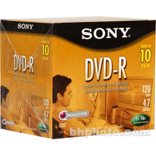 Sony 4.7 GB DVD-R (10 Discs)