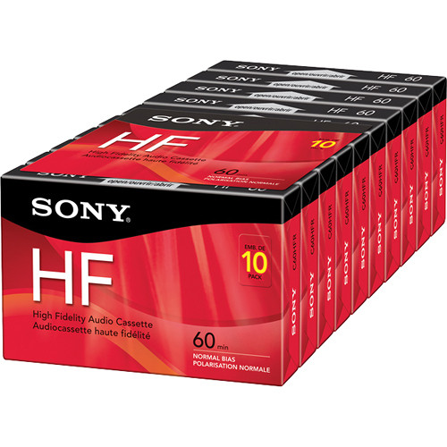Sony 60-Minute HF Audio Cassettes (10-Pack)