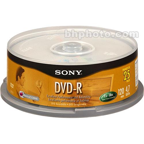 Sony 4.7 GB DVD-R (25 Discs)