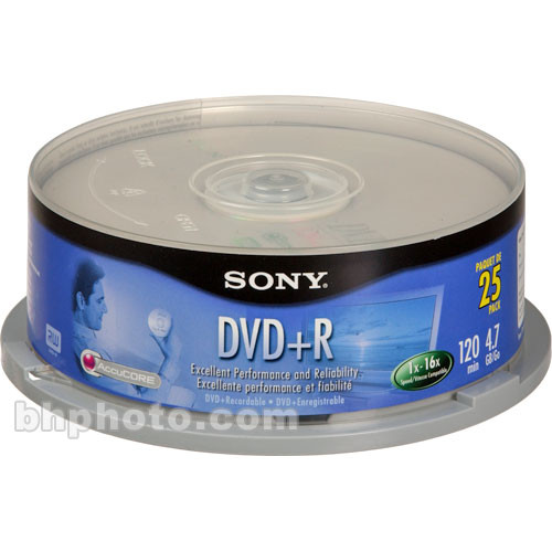 Sony 4.7GB DVD+R Recordable Disc (25)