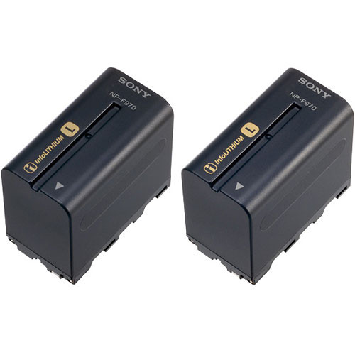 Sony NP-F970 L-series Info-Lithium Battery 2 Pack (7.2v, 6300mAh)