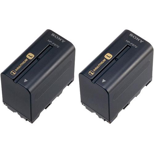 Sony NP-F970 L-series Info-Lithium Battery 2 Pack (7.2v, 6300mAh)