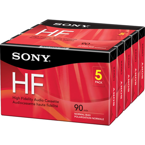 Sony 90-Minute HF Audio Cassettes (5-Pack)