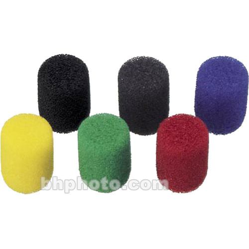 Sony ADC88 6-Piece Foam Windscreen Set for the Sony ECM-88 Series Lavalier Microphone (Color Mix)