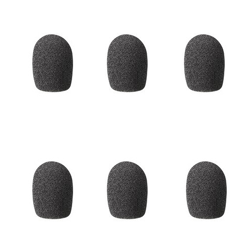 Sony ADRX7B Windscreens for use with ECM-X7BMP and UWP Lavalier Mics (Pack of 6)