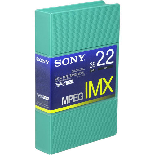 Sony BCT22MX MPEG IMX Video Cassette, Small
