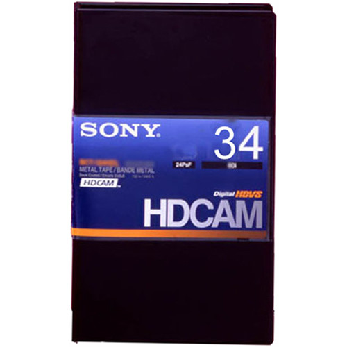 Sony BCT-34HDL HDCAM Videocassette, Large