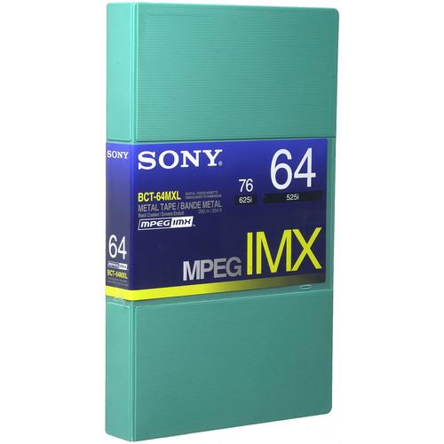 Sony BCT64MXL MPEG IMX Video Cassette, Large