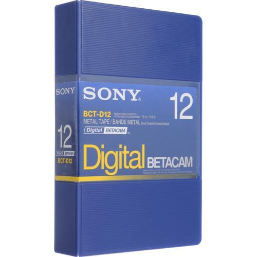 Sony BCT-D12 12 Minute Digital Betacam Video Cassette in Album Case (Small)
