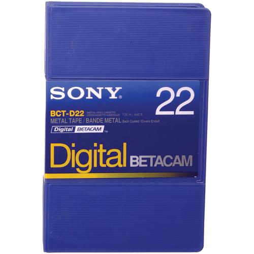 Sony BCT-D22 22 Minute Digital Betacam Cassette