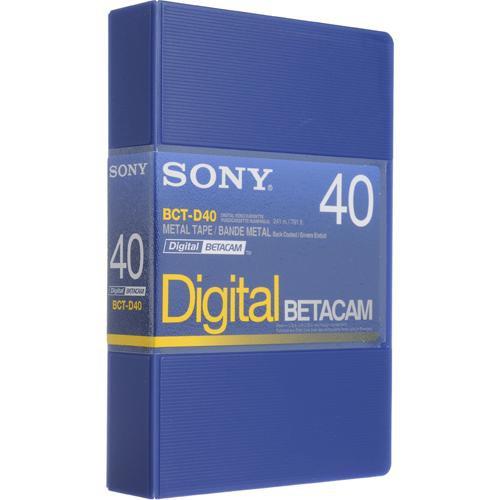 Sony BCT-D40 40 Minute Digital Betacam Cassette