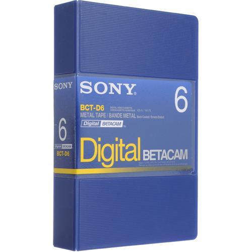 Sony BCT-D6 Six Minute Digital Betacam Cassette