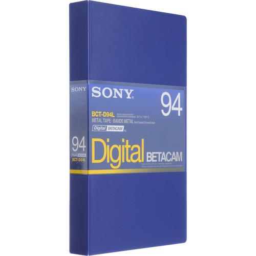 Sony BCT-D94L 94 Minute Large Digital Betacam Cassette